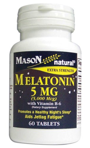 Mason Vitamins Melatonin 5 Mg with Vitamin B-6 Extra Strengt