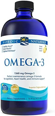 Nordic Naturals Omega-3 Liquid - Aids in Cognition, Heart Health, and Immune Support, Lemon Flavor, 16 Ounces