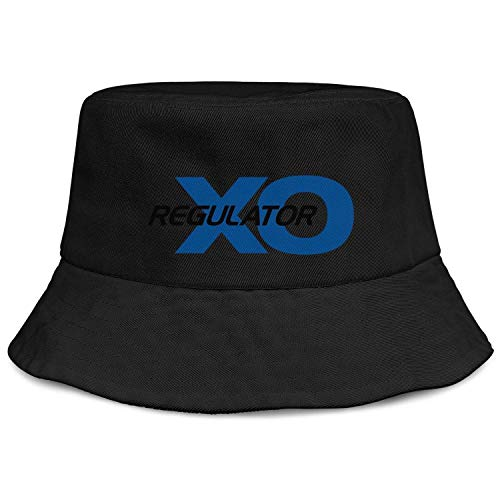 Cambpdkje Women Girls Bucket Caps Regulator-Marine-Logo-Black-Blue- Black Fashion Flat