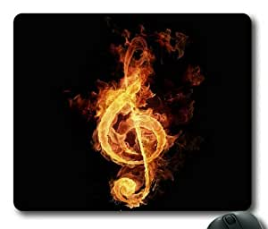 Lilyshouse Fire Flame Music Note Rectangle Mouse Pad