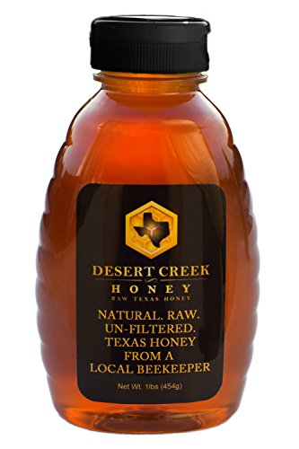 Desert Creek Honey Raw Texas Honey, Unfiltered,1 lbs (454g)