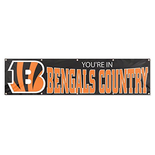 Party Animal Cincinnati Bengals 8'x2' NFL (Cincinnati Bengals Nfl Wall Hanging)