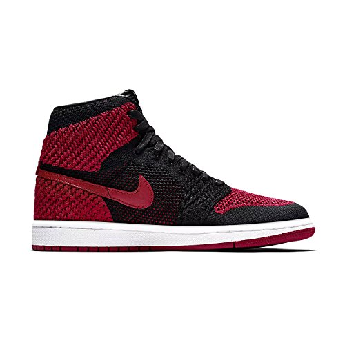 Jordan Air 1 Retro High Flyknit Banned BG Big Kid's Shoes Black/Red/White 919702-001 (6 M US)