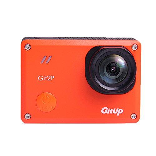 Gitup git2p Pro 2 K Wifi Action Kamera 170 Grad Objektiv PANAS0NIC Sensor Sport DV Orange