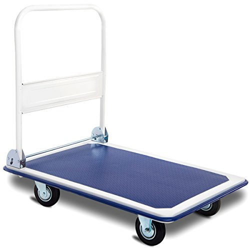 Giantex 5 660lbs Platform Cart Dolly Folding Foldable Moving Warehouse Push Hand Truck ()