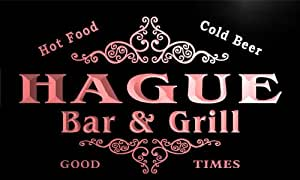 u18437-r HAGUE Family Name Gift Bar & Grill Home Beer Neon Light Sign