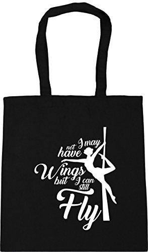 Wings Have litres May but Tote Black Fly x38cm Not Shopping Bag I 10 Beach Still Can 42cm Gym HippoWarehouse I nxwUfqF