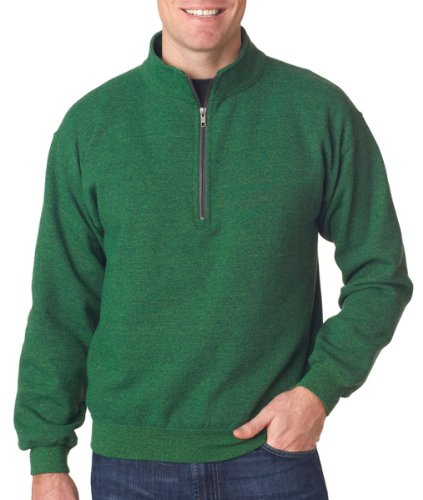 Gildan mens Heavy Blend 8 oz. Vintage Classic Quarter-Zip Cadet Collar (Meadow Green Apparel)