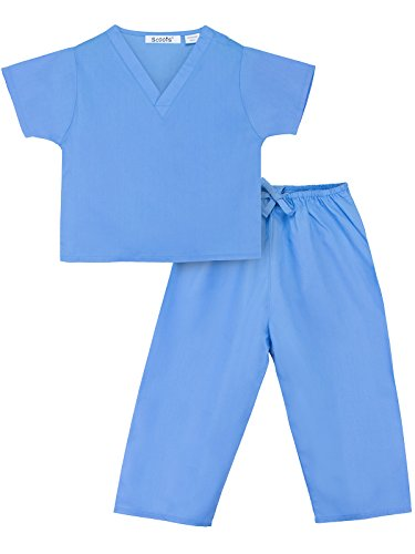 Scoots Little Girls' Scrubs 0-6 Months, Blue -
