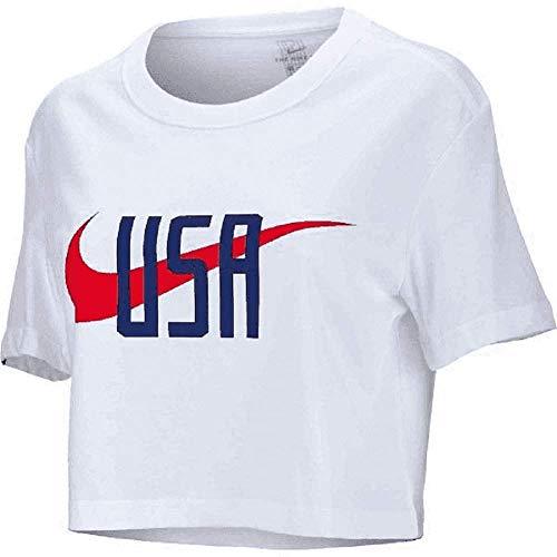 Cotton Nike T-shirt New Womens - Nike 2019 Women's USWNT World Cup Squad T-Shirt (White) (M)