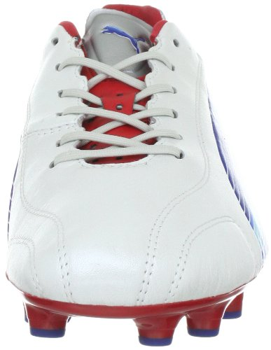 Puma EvoSpeed 1 K FG 102525 - Zapatillas de fútbol para hombre blanco - Weiss (white-limoges-ribbon red 01)