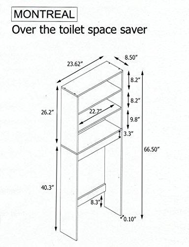 Toiletten-Überbau fürs Badezimmer - 2 Regalbretter und 1 Ablage ...