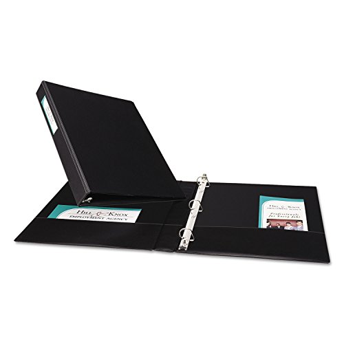 Averyamp;reg; Durable EZ-Turn Ring Binder with Label Holder, 8-1/2 x 11, 1in Capacity, - Turn Ez Durable Ring Binders