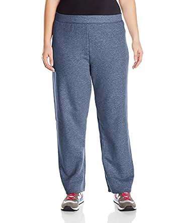 Just My Size Women's Plus-Size Fleece Sweatpant, Navy Heather, 4XL
