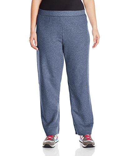 Just My Size Women's Plus-Size Fleece Sweatpant, Navy Heather, 2XL