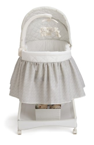 Delta Children Deluxe Gliding Bassinet, Silver Lining  by Delta Children (Image #2)
