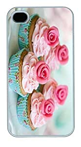 IMARTCASE iPhone 4S Case, Rose Cupcake Polycarbonate Back Case for Apple iPhone 4S/5 White by lolosakes by lolosakes