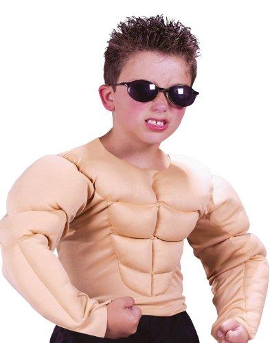 Fake Muscle Shirt Halloween (Fun World Muscle Shirt Costume, Large 12 - 14,)
