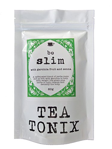 BE SLIM Detox and Appetite Suppressant Tea with Yerba Mate, Senna, Dandelion, and Garcinia 60g - to Help Slim, Detox, Control Appetite to Promote Weight Loss, and Boost Energy by Tea Tonix