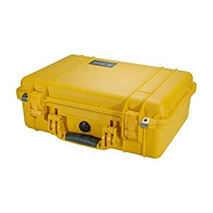 Pelican 1500 Case with Foam for Camera, Yellow - 1500-000-240