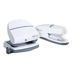 Rapesco - Grapadora y perforadora Shimma P20, color blanco