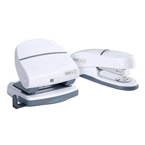 Strip Desktop Half (Rapesco 1275 P20 Shimma Stapler and Hole Punch Set - White)