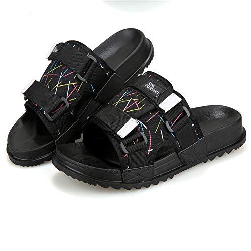 Antideslizantes 1 Negros EU con Zapatos 41 De Slipper Color tamaño De De De Zapatillas Transpirables Ocio para Verano Ribbons 3 Wangcui Playa Negro Hombres 6xRtnww