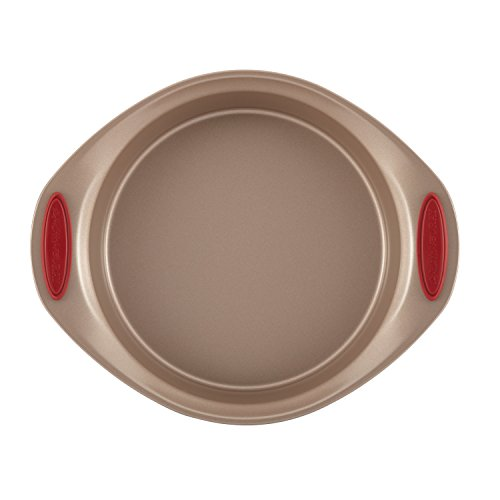 Rachael Ray Cucina Nonstick Bakeware 10-Piece Set, Latte Brown with Cranberry Red Handle Grips by Rachael Ray (Image #6)