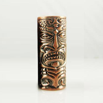 1 Aztec Mask Empaistic Copper Tattoo Grip - tattoo machine supply-