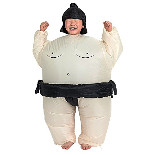 [ZYZB Inflatable Sumo Wrestler Wrestling Suits for Kids Halloween Costume] (Baby Sumo Wrestler Costume)