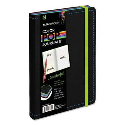 Neenah Paper 98831 Astrobrights Journal, Ruled - 5.12 x 8.25 in., Black
