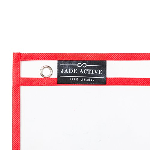 Dry Erase Pockets - Reusable + Oversized - Size 10 X 13 Inches - 30 Pockets for Adults and Children - Mixed Colors - Ideal to use at School or at Work Photo #4