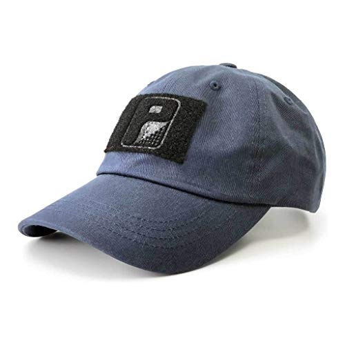 Pull Patch Tactical Hat | Authentic Classics Dad Cap with Buckle Closure | 2x3 in Hook and Loop Surface to Attach Morale Patches | 6 Panel | Navy Blue | Free US Flag Patch Included
