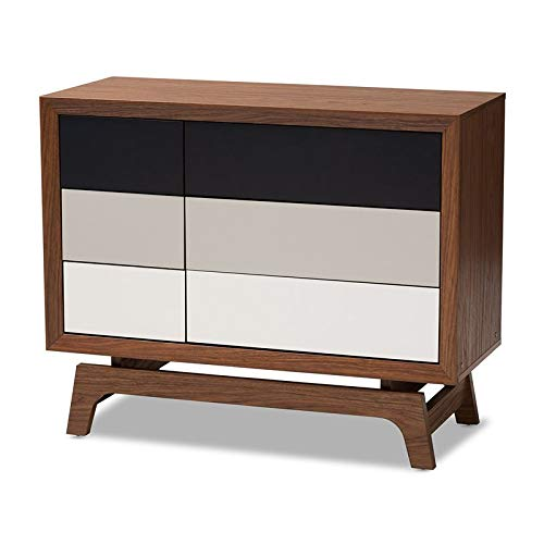 Baxton Studio Svante Multicolor Finished Wood 6-Drawer Chest by Baxton Studio