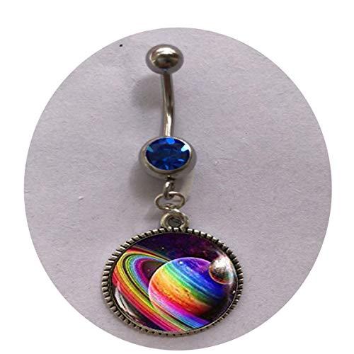 Rainbow Planet Keychain, LGBTQ Gay Pride Keychain, Rainbow Art Jewelry, Pride Rainbow Gay Pride Flag Art Keychain Belly Ring - Religious -