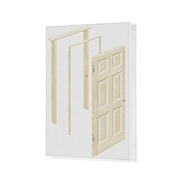 Amazon.com: 20x16 Canvas Print of Wooden door and door frames ...