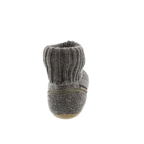 Haflinger Everest Karlo Unisex - Kinder Hohe Hausschuhe Grau