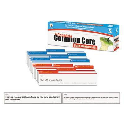 Carson-Dellosa 158173 Common Core State Standard Pocket Chart Cards, Language Arts & Math, Grade 5 CARSON-DELLOSA PUBLISHING