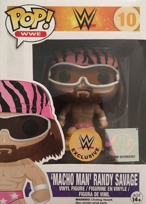 Funko Pop! 10 Macho Man Randy Savage WWE Exclusive Vinyl Figure in Pink Outfit by FunKo