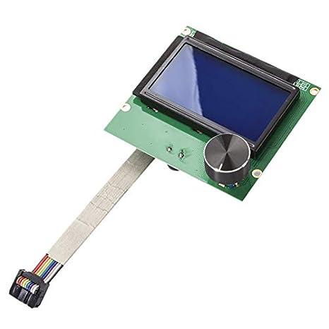 WOVELOT Nuevo 1.4 3D Impresora Pantalla Monitor 12864 LCD ...