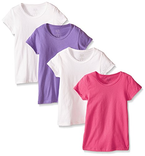 Fruit of the Loom Girl's  Toddler Tee , Assorted, 2T/3T(Pack of 4)