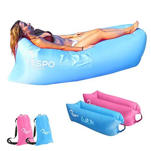 Yespo Products Chaise Longue Gonflable avec Sac de Transport
