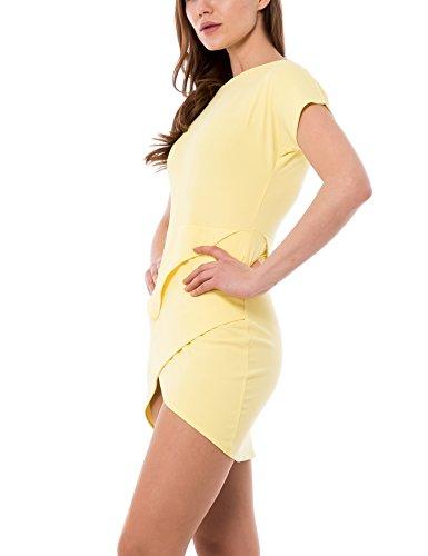 Gelb Gonna Roma Abito Incrociata Damen Kleid Isabella xFTYOq0wq
