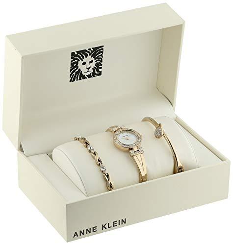 Anne Klein Goldtone Crystal Bangle Box Set