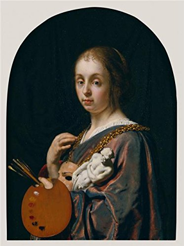 Oil Painting 'An Allegory Of Painting, 1661 By Frans Van Mieris The Elder' 30 x 40 inch / 76 x 102 cm , on High Definition HD canvas prints is for Gifts And Game Room, Hallway And Home Office decor