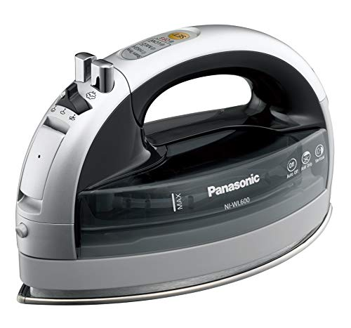Panasonic NI-WL600 Cordless Multi-Directional Iron, Stainless Steel Soleplate, Silver/Black (Carrying Case Iron Steam)