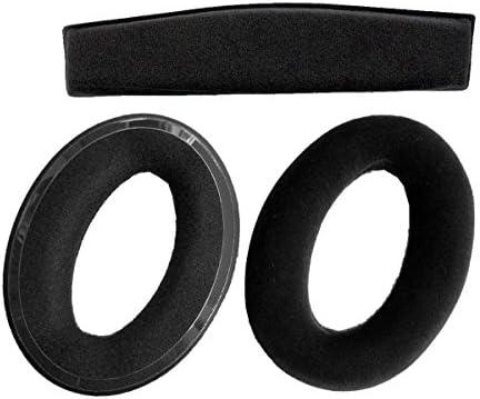 耳パッドEarpadsクッション修理パーツfor Sennheiser hd515hd555hd595hd518hd558hd559hd598hd569ヘッドフォン( earmuffes /クッション)ヘッドセット(クッション+ヘッドバンドパッド1set ) ブラック
