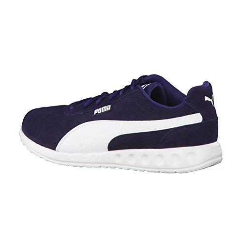 Puma Fallon Suede - Zapatillas de Piel para hombre Peacoat-White