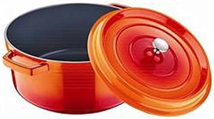 Bergner Authentique Cacerola, Aluminio, Naranja, 20 cm