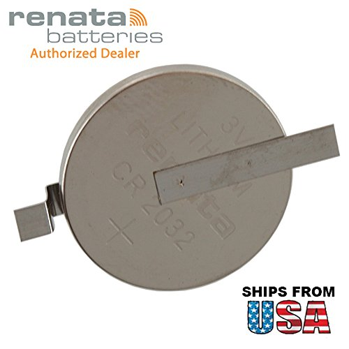 Renata CR2032-MFR-SM 3V Lithium Coin Battery HORZ SMT 2-PIN For PC CMOS Compaq Presario V6000 IBM ThinkPad A20m Gateway Solo 5300 HP Pavilion dv6000 Series dv6300 Series dv6100 -